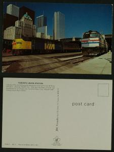 Toronto Union Station Amtrack , Via Trains  1981