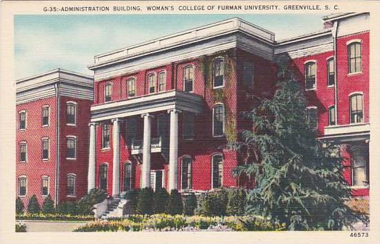 South Carolina Greenville Administration Building Womans College Of Furman Un...