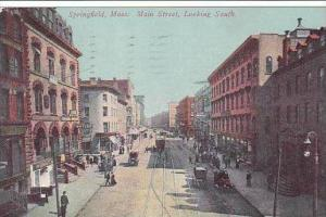 Massachusetts Springfield Main Street Looking South 1913