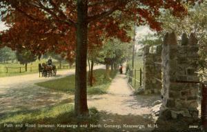 NH - Kearsarge. Path and Road to North Conway