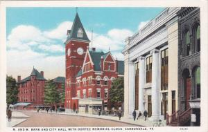 Alternate Card,  M. and M. Bank and City Hall with Durfee Memorial Clock, Clo...