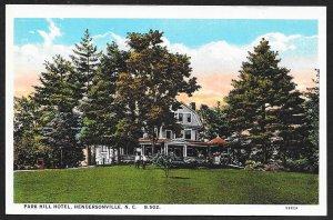 Park Hill Hotel Hendersonville North Carolina Unused c1920s