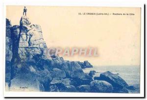 Le Croisic Old Postcard Rocks of the coast