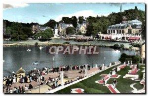 Postcard Modern Spa De Bagnoles De L & # 39Orne Un Coin Du Lac Casino And Des...