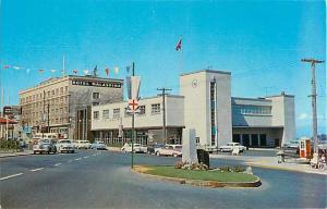 Malaspina Hotel & Federal Building Nanaimo BC Postcard