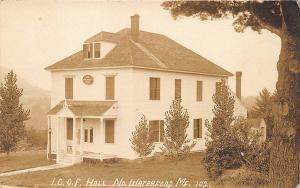 North Waterford I.O.O.F. Hall RPPC Postcard