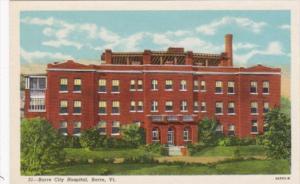 Vermont Barre City Hospital Curteich