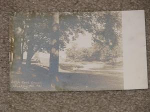 Little Rock Creek, Hinckley, Ill., used vintage card, 1905
