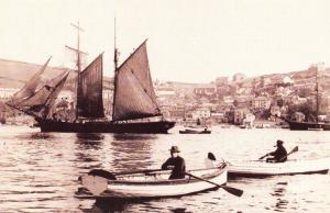 Nostalgia Postcard Fowey Harbour, Cornwall, c1920 Reproduction Card #N445