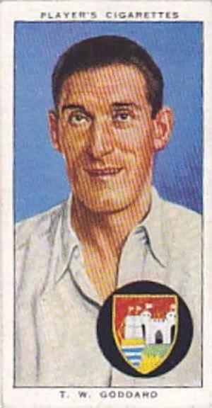 Player Vintage Cigarette Card Cricketers 1938 No 10 T W Goddard Gloucestershi...