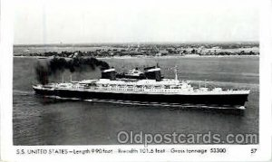 S.S. United States Steam Ship Postcard Postcards Unused