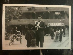 Mint Hong Kong ReAl Picture Postcard Photographer With The Kids