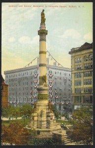Soldiers & Sailors Monument Lafayette Square Buffalo New York Unused c1910s