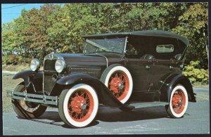 Classic Car Postcard 1930 FORD Model A Standard Phaeton - Chrome