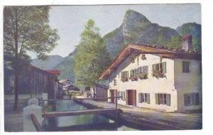 Am Muhlbach, Oberammergau, Bavaria, Germany, 40-60s