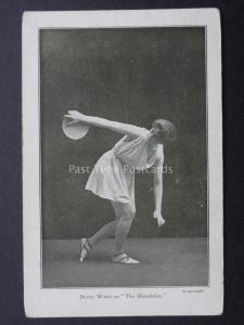 Athlete Theme DIANA WATTS as The Discobolas THROUGHING DISCUS Old Postcard