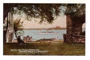 Hotel Grounds, Alexandria Bay, Thousand Islands, Ontario, Two Masted Ship