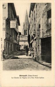 CPA Airvault (Deux-Sevres) - Le Clocher de l'Église et la Rue Porte... (297404)