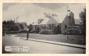 Columbus Ohio Hoffmans Garden Street View Antique Postcard K50283