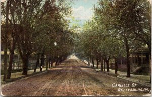Gettysburg Pennsylvania~Buggy Tracks on Dirt Carlisle Street~Big Homes 1908~1908