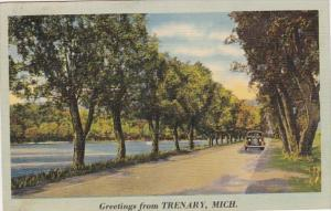 Michigan Greetings From Trenary 1941