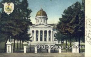 Montpelier, Vermont, VT State Capital, Capitals Postcard Post Card USA  Montp...