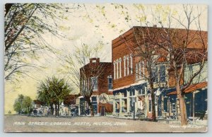Milton IA~Great Billboard @ Hoskins Grocery~Boot & Shoe Store~Dirt Main St 1909