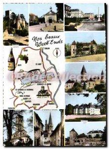 Modern Postcard Our beautiful Week Ends Chalon