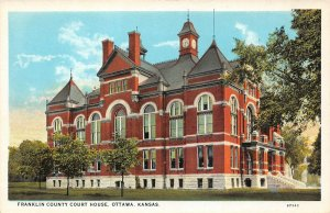 LP10  Ottawa   Kansas Postcard Franklin County Court House