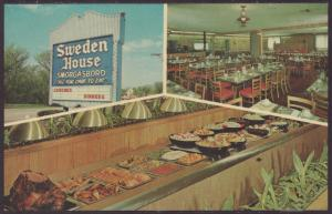 Sweden House Somorgasbord,Elgin,IL Postcard