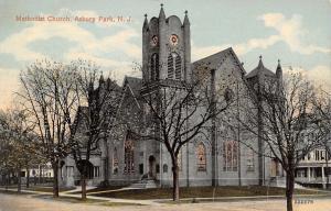 Asbury Park New Jersey~First Methodist Church~Neighborhood Homes~1908 Postcard