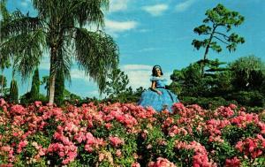 Florida Cypress Gardens Beautiful Flowers and Beautiful Girls