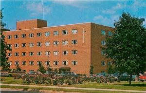 Appleton Wisconsin~St Elizabeth Hospital~1960s Cars~Postcard