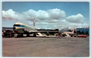 JUNEAU, AK  AIRPORT ~ Pan American & Pacific Northern AIRPLANES, JETS Postcard