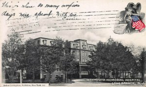 Monmouth Memorial Hospital, Long Branch, N.J., Early Postcard, Used in 1905
