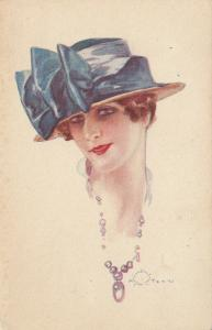 A. TERZI ; Art Deco Female Head Portrait , 1910s ; #3
