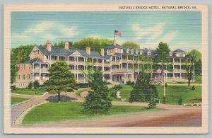 Natural Bridge Virginia~Natural Bridge Hotel~Vintage Postcard