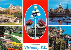 Canada Victoria B.C City of Many Charms Flowers multiviews
