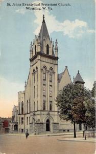 Wheeling West Virginia~St Johns Evangelical Protestant Church~Majestic Bldg~1914