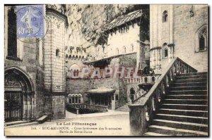 Old Postcard Rocamadour inner sanctuaries Court Parvis Notre Dame