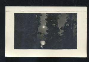 RPPC PEQUOT MINNESOTA 1930 MOON LIGHT VINTAGE REAL PHOTO POSTCARD