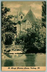 Techny IL~Stone Arch Bridge~Castle Mission House~St Mary's Catholic College 1943