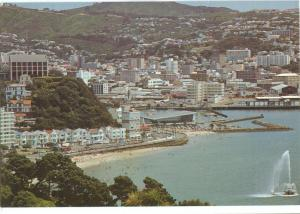 New Zealand, Wellington, Oriental Bay, 1985 used Postcard
