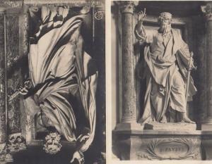 Basilica Rome Papale di San Giovanni in Laterano St John Statue 2x Postcard s