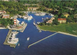 Aerial view of The Harbour Town Marina,  Hilton Head Island,   South Carolina...