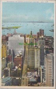 America Postcard - Panorama of Lower Manhattan and Bay, New York  RS25172