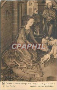 Postcard Old Bruges Hopital Saint John Memling Adoration of the Magi