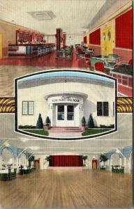 Burlington W~Liggett's Art Deco Royal Palm Club~Ballroom Dance Floor~1940s Linen