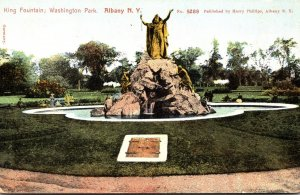 New York Albany Washington Park King Fountain