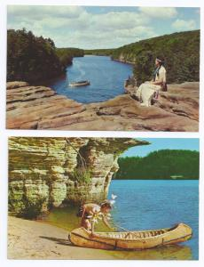 Wisconsin Dells River Canyon Boat Native Americans (2 Cards)